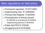 main regulations on fleet policy