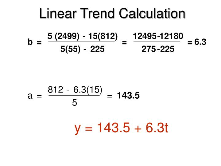 Linear Trend Calculation