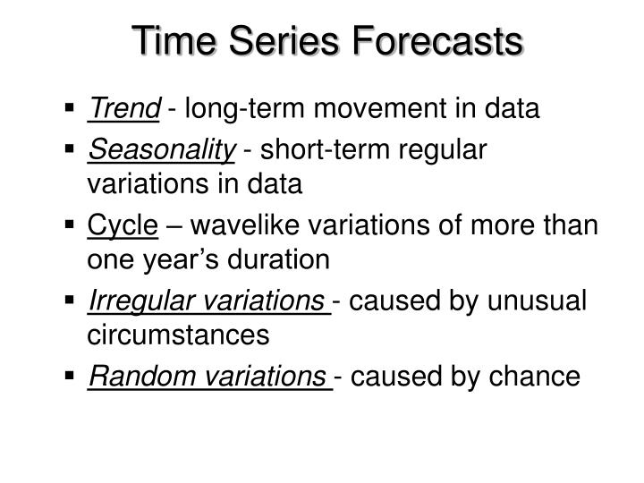 Time Series Forecasts