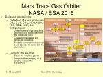 mars trace gas orbiter nasa esa 2016