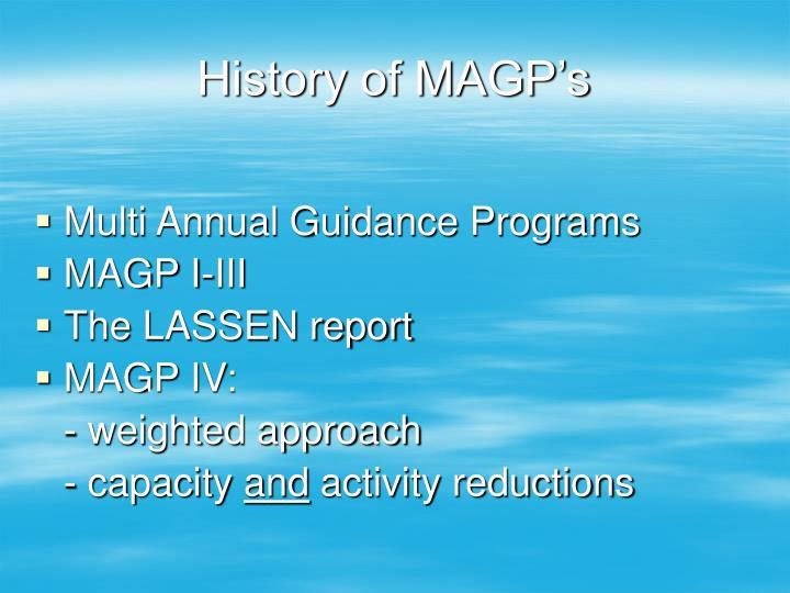History of magp s