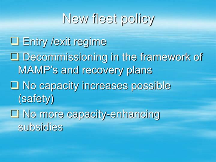 New fleet policy