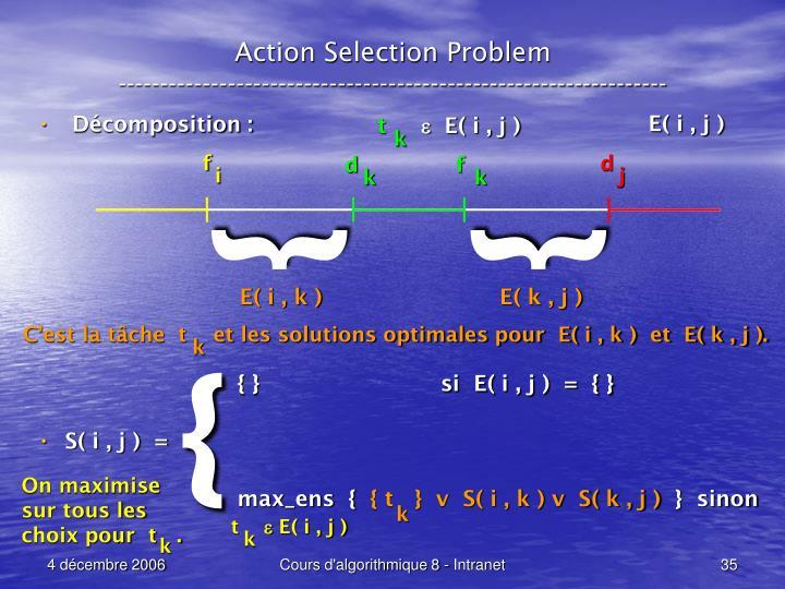 Action Selection Problem