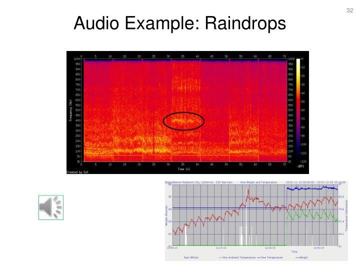 Audio Example: Raindrops