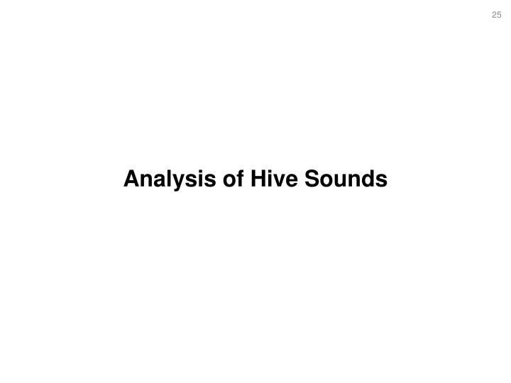 Analysis of Hive Sounds