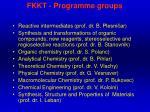 fkkt programme groups