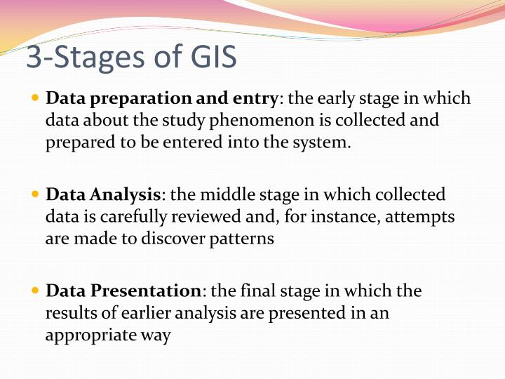3-Stages of GIS