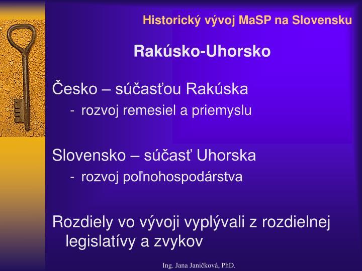 Historick v voj masp na slovensku2