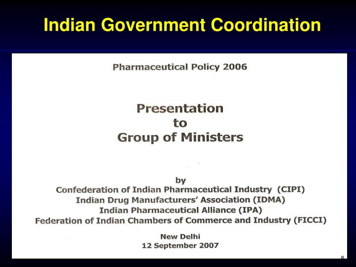 Indian Government Coordination