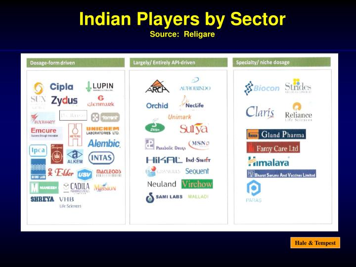 Indian Players by Sector