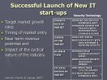 successful launch of new it start ups