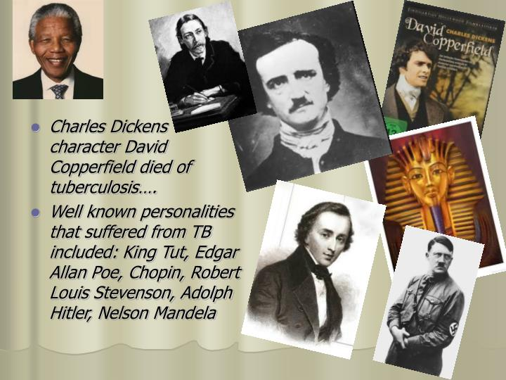 Charles Dickens  character David Copperfield died of tuberculosis….