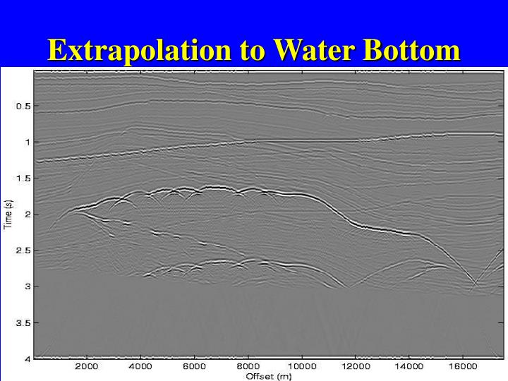 Extrapolation to Water Bottom