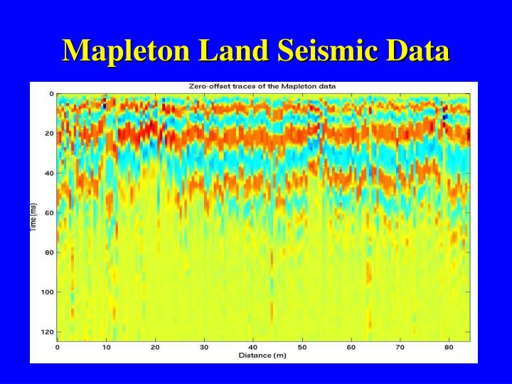 Mapleton Land Seismic Data