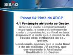 passo 04 nota da adgp