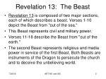 revelation 13 the beast