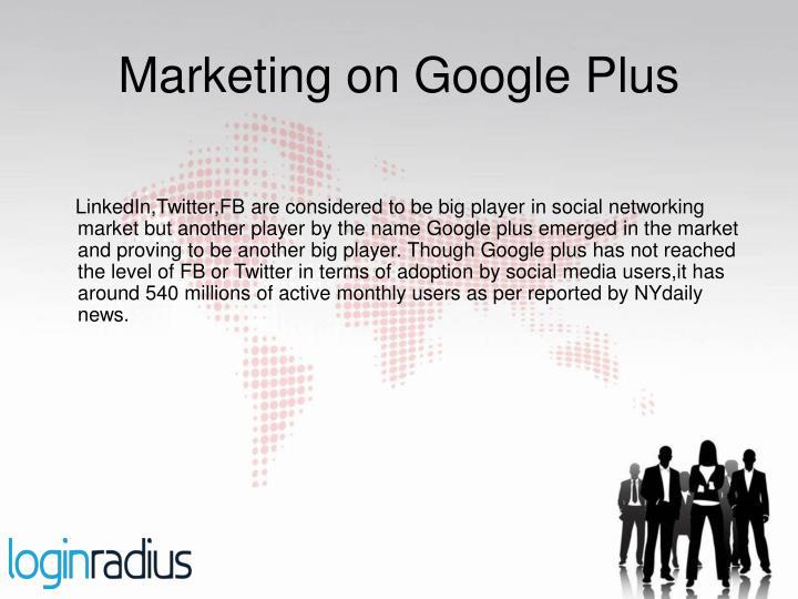Marketing on google plus