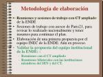 metodolog a de elaboraci n