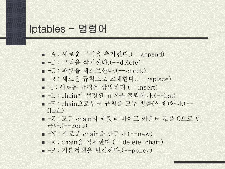 Iptables -