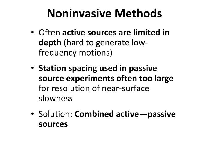 Noninvasive Methods