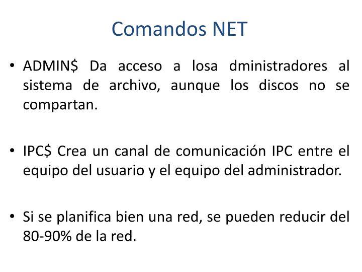 Comandos NET