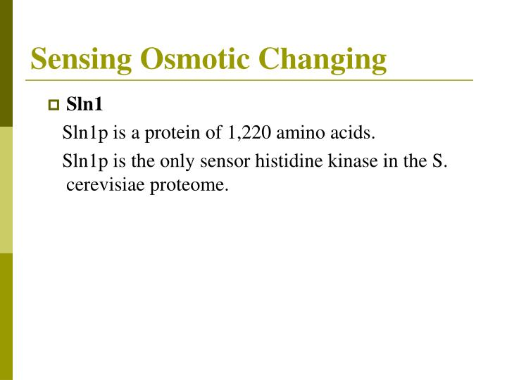 Sensing Osmotic Changing