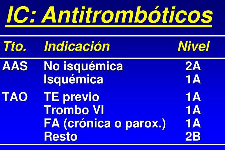 IC: Antitrombóticos