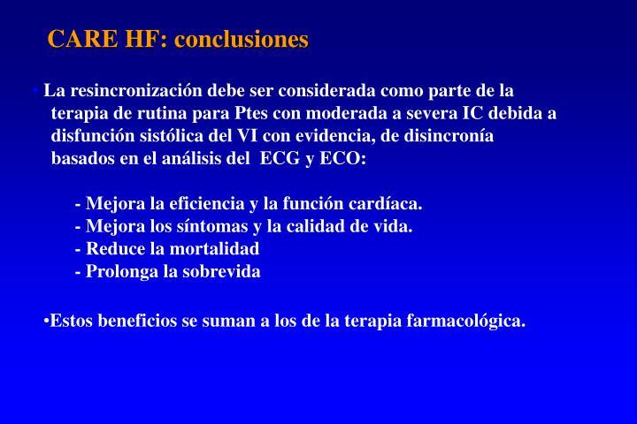 CARE HF: conclusiones