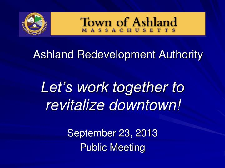 Ashland redevelopment authority