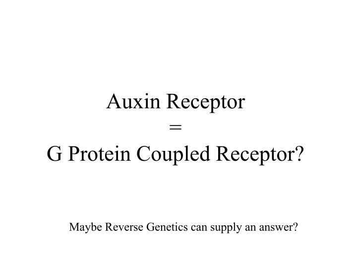 Auxin Receptor