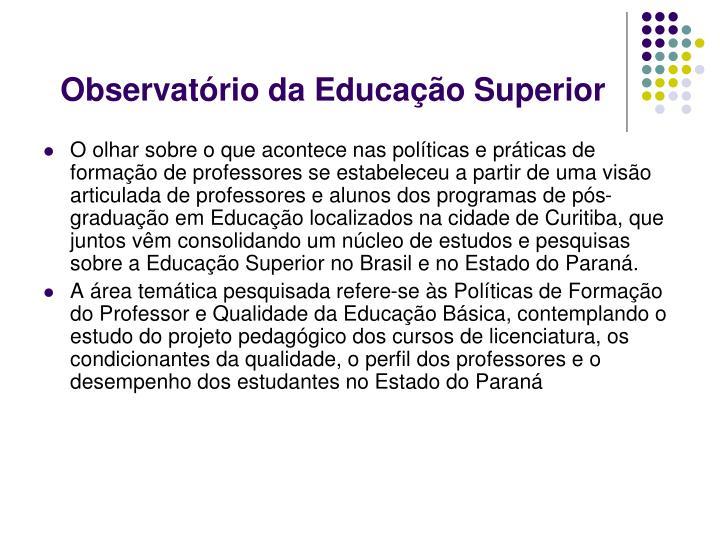 Observatório da Educação Superior