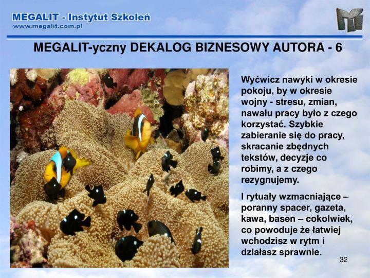 MEGALIT-yczny DEKALOG BIZNESOWY AUTORA - 6