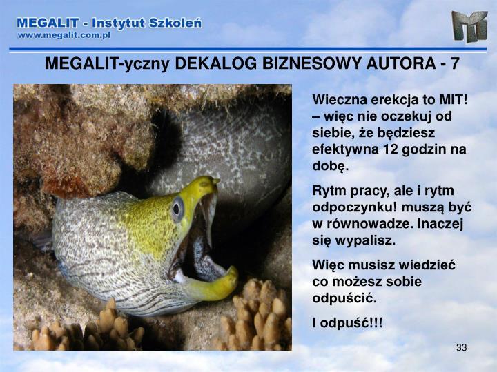 MEGALIT-yczny DEKALOG BIZNESOWY AUTORA - 7