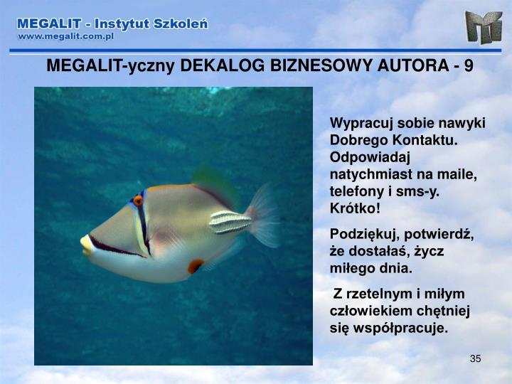 MEGALIT-yczny DEKALOG BIZNESOWY AUTORA - 9