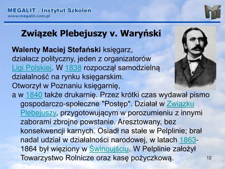 Związek Plebejuszy v. Waryński