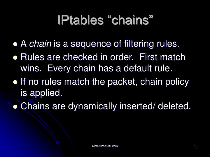 "IPtables ""chains"""