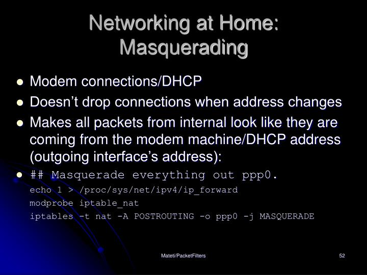Networking at Home: Masquerading