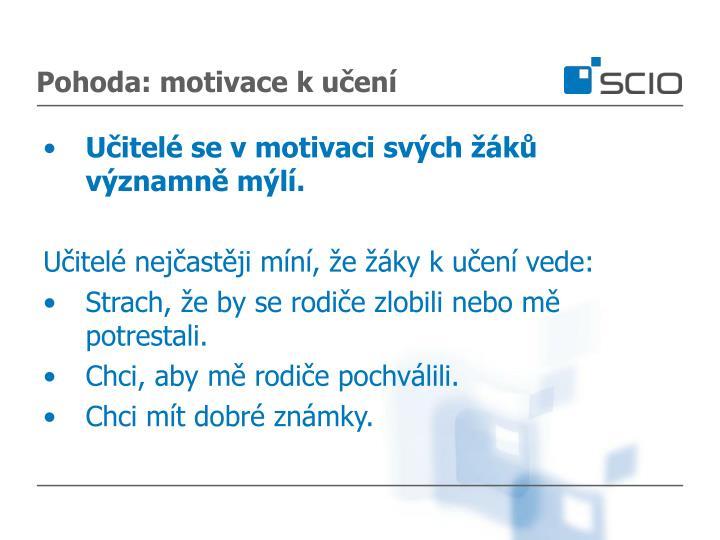 Pohoda: motivace k učení