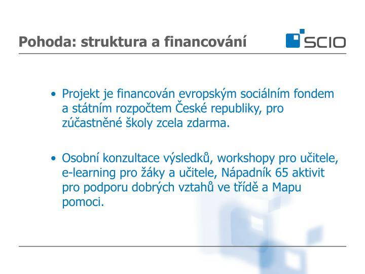 Pohoda: struktura a financování