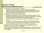 examples of risks pharmaceutical manufacturers1