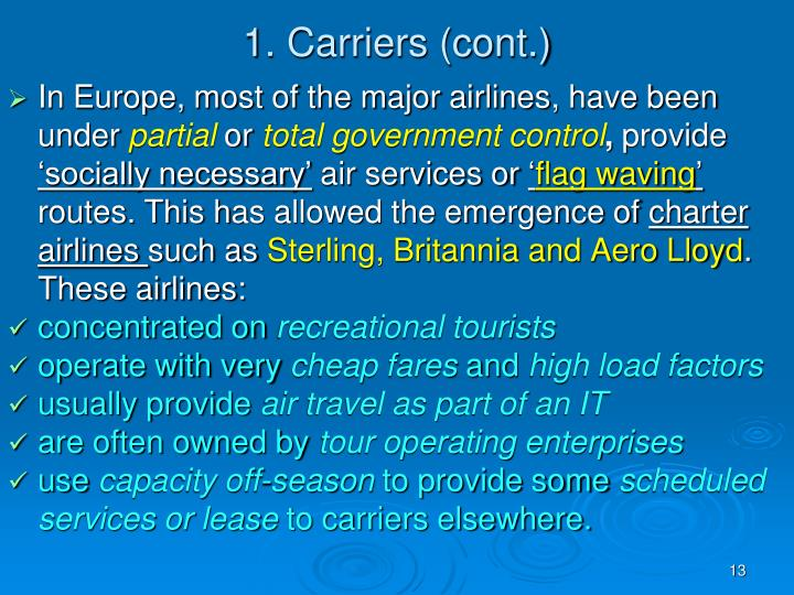 1. Carriers (cont.)