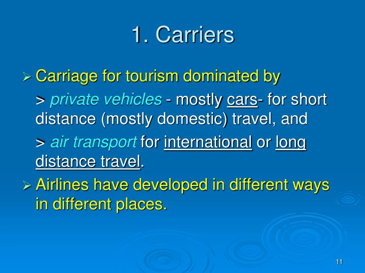 1. Carriers