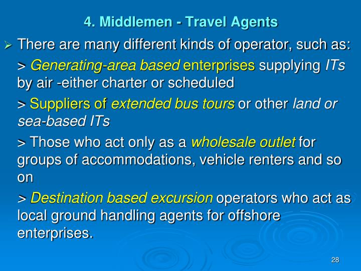 4. Middlemen - Travel Agents