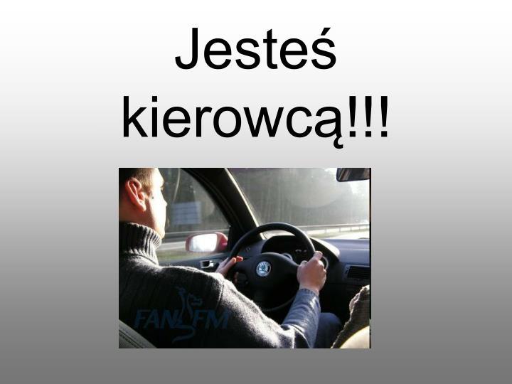 Jesteś kierowcą!!!