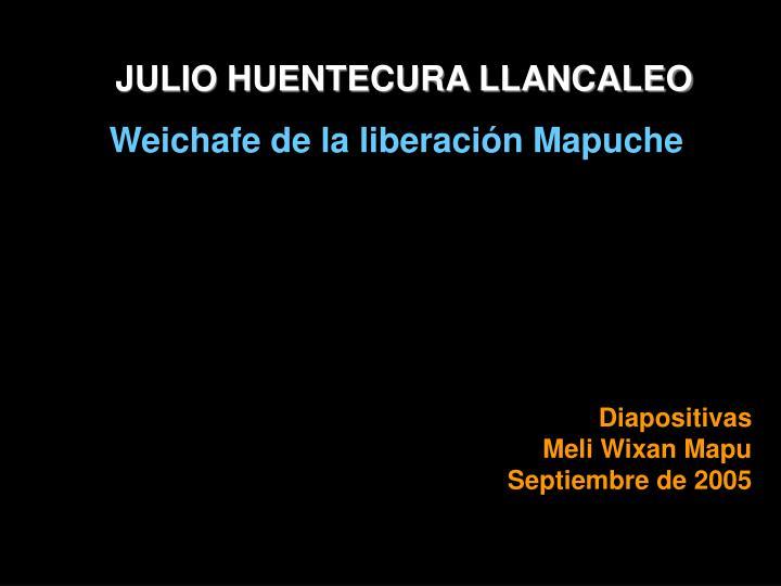 JULIO HUENTECURA LLANCALEO
