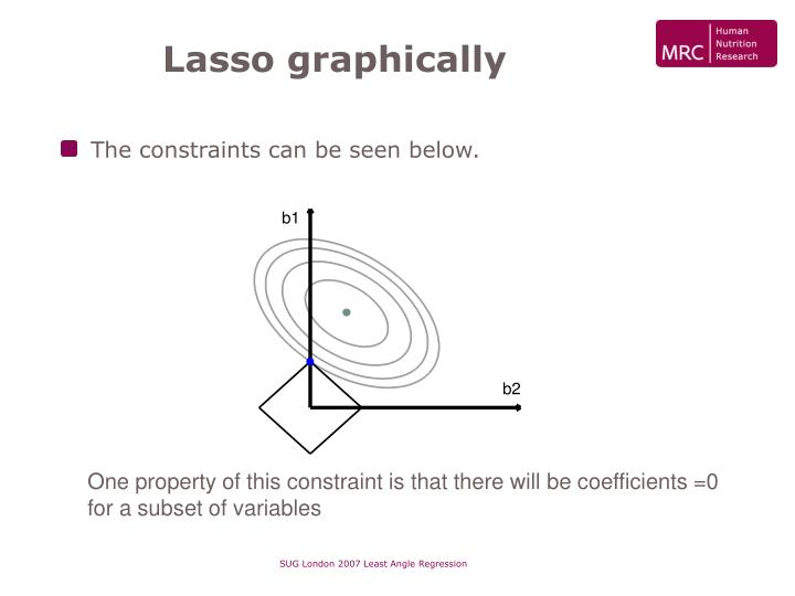 Lasso graphically
