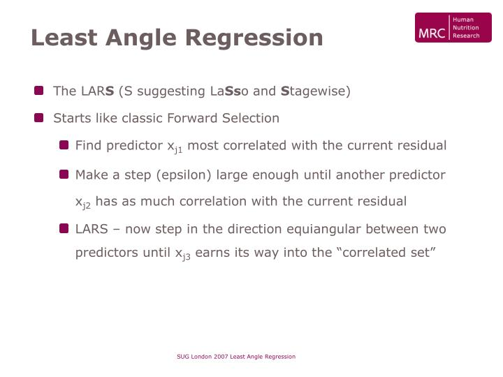 Least Angle Regression