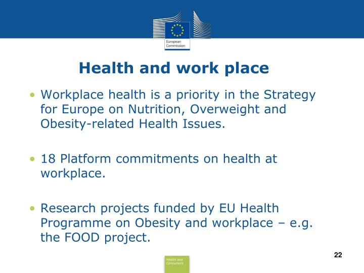 Health and work place