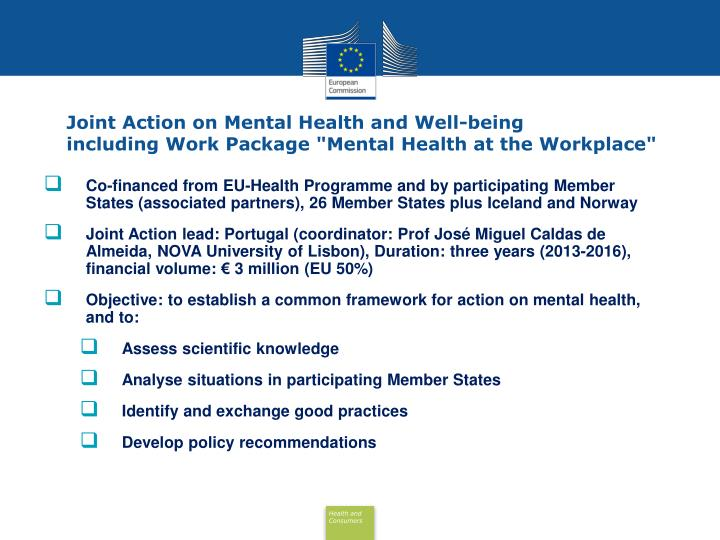 Joint Action on Mental Health and Well-being