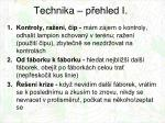 technika p ehled i